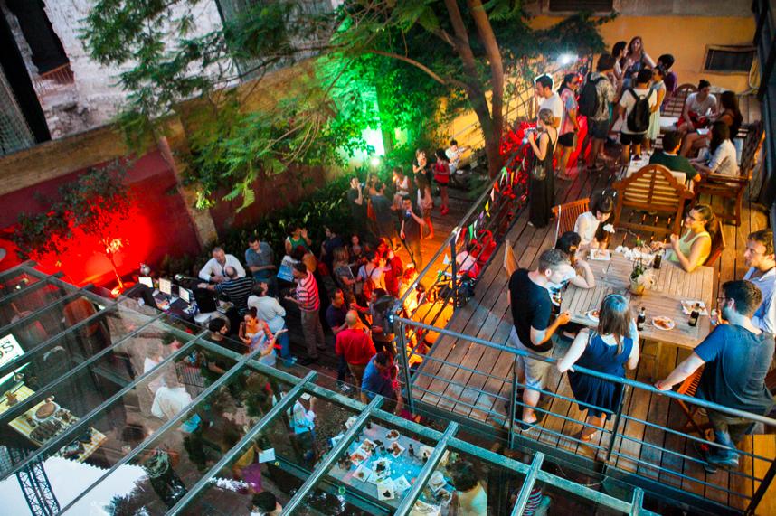 Wayco Ciutat Vella. Terraza cafetería.
