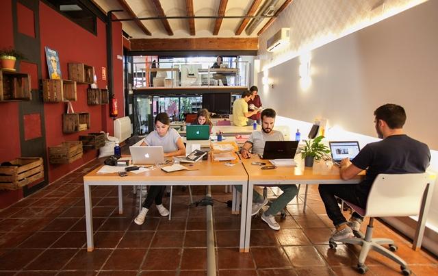 Espacio compartido en un coworking