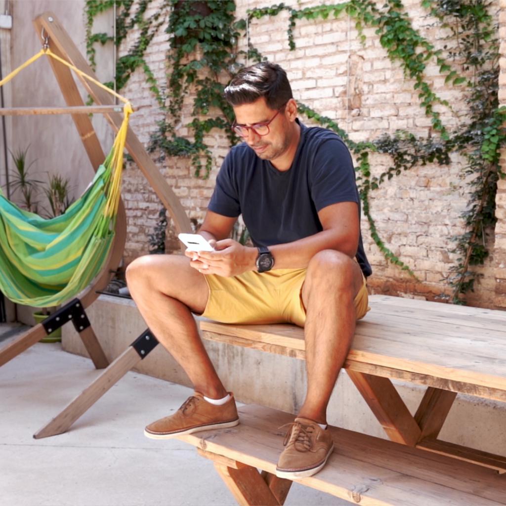 Coworker en la terraza de WayCO Ruzafa